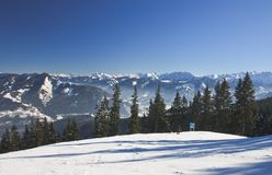 Ski resort Zell am See, Austria Stock Images