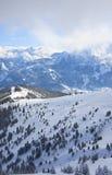 Ski resort Zell am See, Austria. N Alps at winter Stock Photos