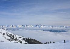 Ski resort Zell am See, Austria. N Alps at winter Royalty Free Stock Photography