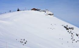 Ski resort Zell am See, Austria. N Alps at winter Stock Image