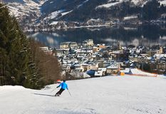 Ski resort Zell am See. Austria Royalty Free Stock Photos