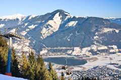 Ski resort Zell am See,  Austria Stock Photography