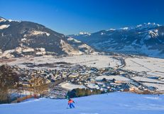 Ski resort Zell am See,  Austria Stock Photo