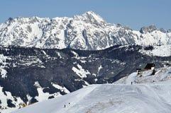 Ski resort Zell am See, Austrian Alps at winter. Ski resort and the mountains of Zell am See, Austrian Alps at winter Stock Photos