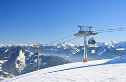 Ski resort Zell am See, Austrian Stock Photos