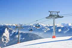Ski resort Zell am See, Austrian Stock Images