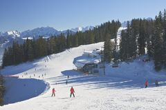 Ski resort Zell am See, Austrian Stock Image
