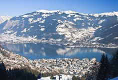 Ski resort Zell am See, Austrian Royalty Free Stock Photo