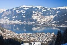 Ski resort Zell am See, Austrian Royalty Free Stock Photo