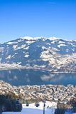 Ski resort Zell am See, Austrian Stock Photo