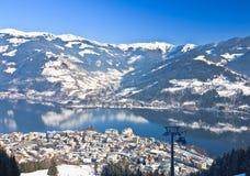 Ski resort Zell am See, Austrian Stock Image