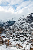 Ski resort Zermatt view on the village Stock Photo