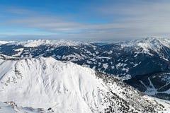 Ski resort Zillertal - Tirol, Austria. Royalty Free Stock Image