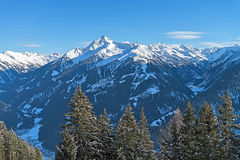 Ski resort Zillertal - Tirol, Austria. Stock Photos