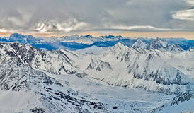 Ski resort Zillertal - Tirol, Austria. Royalty Free Stock Photography