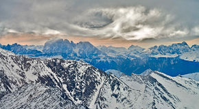 Ski resort Zillertal - Tirol, Austria. Royalty Free Stock Images