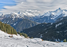 Ski resort Zillertal - Tirol, Austria. Royalty Free Stock Photos