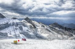 Ski resorts Hintertux Glacier, summer snow Stock Images