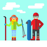 Ski rest in the winter Royalty Free Stock Images