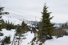 Complex route, freeride Stock Images