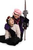 ski rodzinne wakacje Zdjęcie Royalty Free