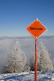 Ski route Royalty Free Stock Photography