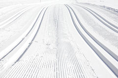 Ski run Stock Photo