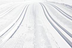 Ski run. Over the snow of alpes stock photo