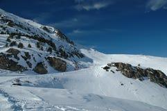 Ski Run. A gentle ski run in Andorra Stock Image