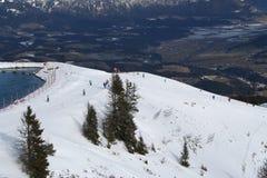 Ski Run, Austria. The Hahnenkamm ski run above Kitzbuhel, Austria stock photo