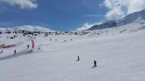 Ski Run in Bansko Stockfotografie
