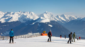 Ski Run in the Dolomites Stock Photo