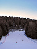 Ski Run in the Evening Light. Mountain, Alps Stock Photos