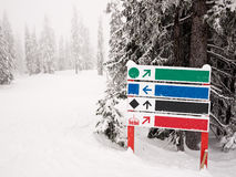 Ski Run Sign Stock Image