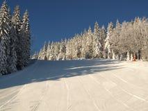 Ski run / ski piste Royalty Free Stock Photo