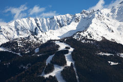 Ski runs Royalty Free Stock Photo