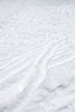 Ski runs and paths in snow in winter Stock Photos