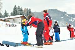 Ski school in Austria Royalty Free Stock Photos