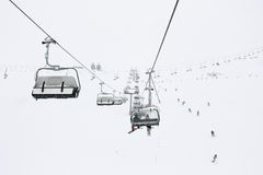 Ski season in the Alps Royalty Free Stock Photos