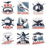 Ski Season Emblem Set Foto de archivo libre de regalías
