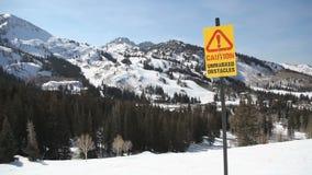 Ski Sign stock video