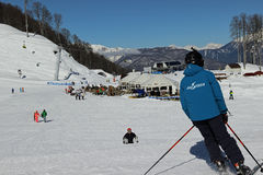 Ski at the ski resort Rosa Khutor Stock Photos