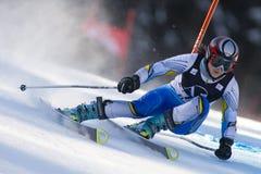 SKI : Slalom de géant de Lienz Images stock