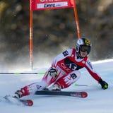 SKI : Slalom de géant de Lienz Photographie stock libre de droits
