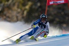 SKI : Slalom de géant de Lienz photographie stock