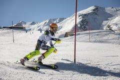 Ski slalom race Stock Image