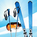 Ski on the slope Royalty Free Stock Photography