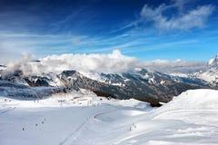 Ski slope. The ski slope. Ski resort of Grindelwald in Switzerland. Bernese Alps Stock Photo