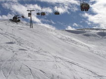Ski slope. With chair lift Stock Image