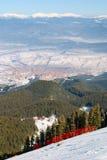 On the ski slope Stock Photo